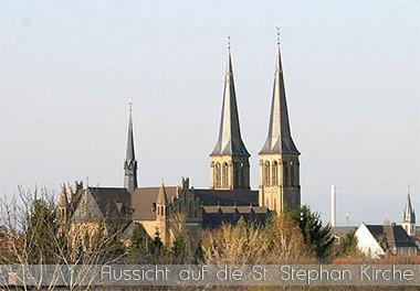 Aussicht auf die St. Stephan Kirche